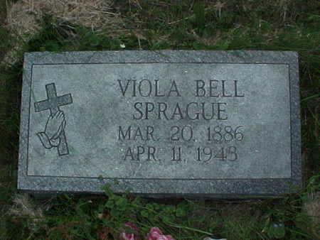 SPRAGUE, VIOLA BELL - Muscatine County, Iowa   VIOLA BELL SPRAGUE