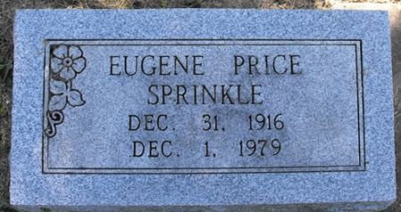 SPRINKLE, EUGENE PRICE - Muscatine County, Iowa   EUGENE PRICE SPRINKLE
