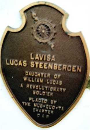 STEENBERGEN, LAVISA LUCAS - Muscatine County, Iowa | LAVISA LUCAS STEENBERGEN