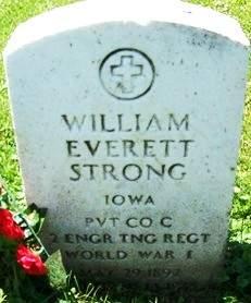STRONG, WILLIAM EVERETT - Muscatine County, Iowa | WILLIAM EVERETT STRONG