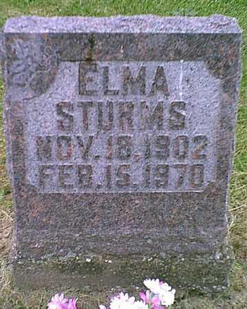 STURMS, ELMA - Muscatine County, Iowa | ELMA STURMS