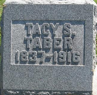 TABER, TACY S. - Muscatine County, Iowa   TACY S. TABER