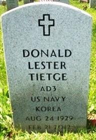 TIETGE, DONALD LESTER - Muscatine County, Iowa | DONALD LESTER TIETGE