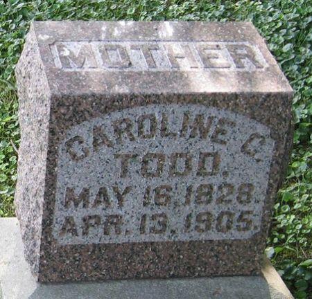 TODD, CAROLINE C. - Muscatine County, Iowa   CAROLINE C. TODD