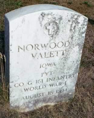 VALETT, NORWOOD - Muscatine County, Iowa | NORWOOD VALETT