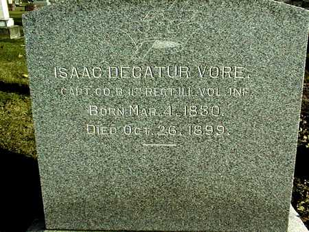 VORE, CAPT. ISAAC DECATUR - Muscatine County, Iowa | CAPT. ISAAC DECATUR VORE