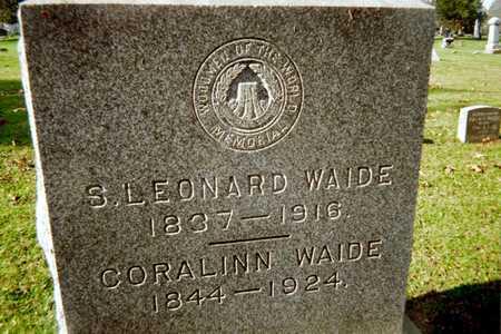 WAIDE, S. LEONARD - Muscatine County, Iowa | S. LEONARD WAIDE