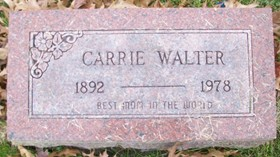 WALTER, CARRIE - Muscatine County, Iowa   CARRIE WALTER