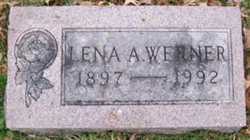 WERNER, LENA A. - Muscatine County, Iowa   LENA A. WERNER