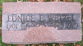 GEORGE WETZEL, EUNICE ELEANOR - Muscatine County, Iowa | EUNICE ELEANOR GEORGE WETZEL