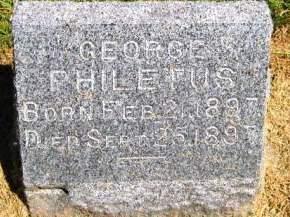 WHITE, GEORGE PHILETUS - Muscatine County, Iowa   GEORGE PHILETUS WHITE