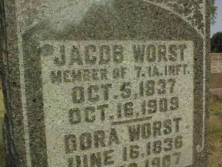 WORST, JACOB - Muscatine County, Iowa   JACOB WORST