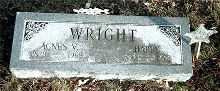 WRIGHT, AGNES V. - Muscatine County, Iowa   AGNES V. WRIGHT