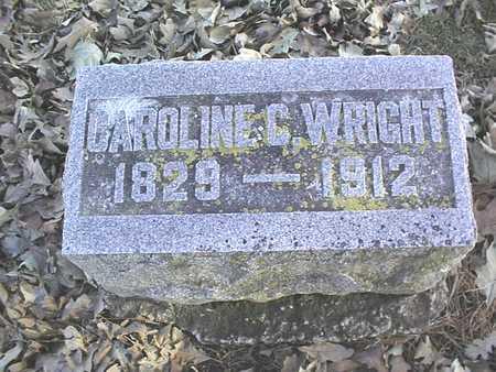 WRIGHT, CAROLINE C. - Muscatine County, Iowa | CAROLINE C. WRIGHT