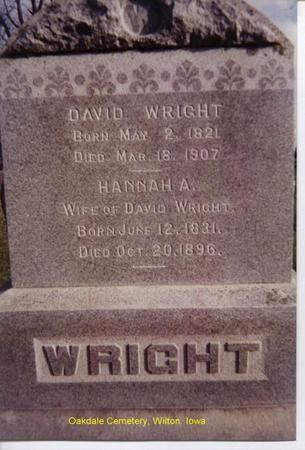WRIGHT, HANNAH - Muscatine County, Iowa | HANNAH WRIGHT