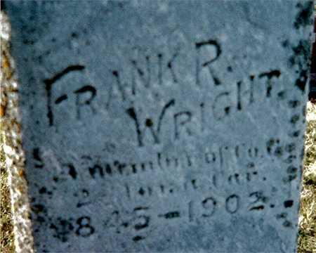 WRIGHT, FRANK R. - Muscatine County, Iowa | FRANK R. WRIGHT