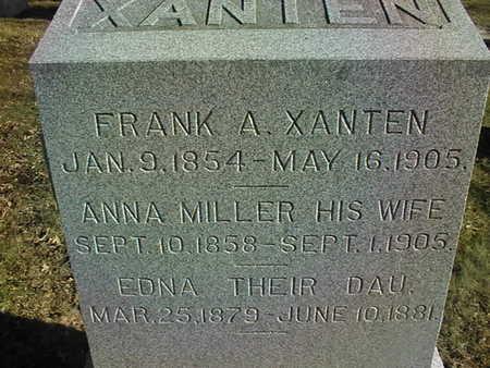 MILLER  XANTEN, ANNA - Muscatine County, Iowa | ANNA MILLER  XANTEN