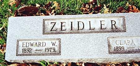 ZEIDLER, EDWARD W. - Muscatine County, Iowa | EDWARD W. ZEIDLER