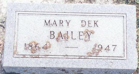 BAILEY, MARY - O'Brien County, Iowa | MARY BAILEY