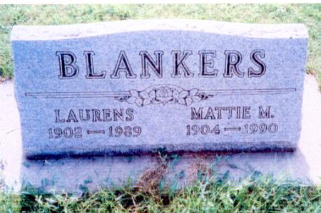 BLANKERS, LAURENS JR. - O'Brien County, Iowa | LAURENS JR. BLANKERS