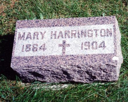 HICKEY HARRINGTON, MARY - O'Brien County, Iowa | MARY HICKEY HARRINGTON