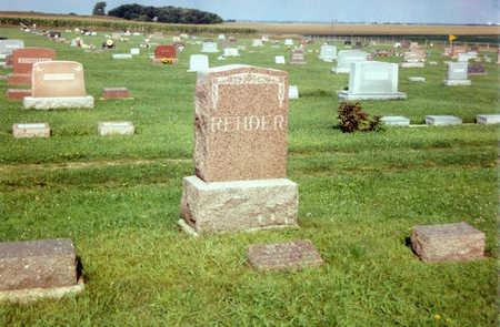 REHDER, FAMILY STONE - O'Brien County, Iowa | FAMILY STONE REHDER