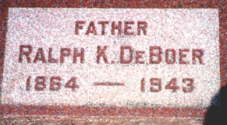DE BOER, RALPH K. - Osceola County, Iowa | RALPH K. DE BOER