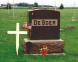 DE BOER, FAMILY  TOMBSTONE - Osceola County, Iowa | FAMILY  TOMBSTONE DE BOER