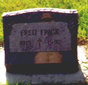 FRICK, FRED - Osceola County, Iowa | FRED FRICK