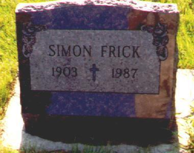 FRICK, SIMON - Osceola County, Iowa | SIMON FRICK