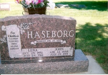 JOHNSON HASEBORG, LENA - Osceola County, Iowa   LENA JOHNSON HASEBORG