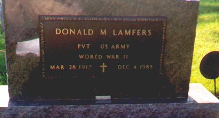LAMFERS, DONALD - Osceola County, Iowa | DONALD LAMFERS