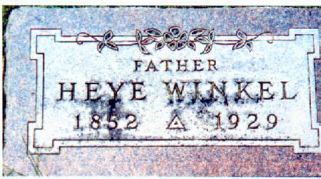 WINKEL, HEYE - Osceola County, Iowa   HEYE WINKEL