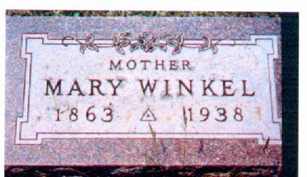WINKEL, MARY - Osceola County, Iowa | MARY WINKEL