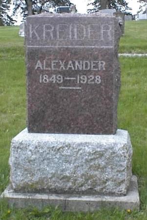KREIDER, ALEXANDER - Page County, Iowa | ALEXANDER KREIDER