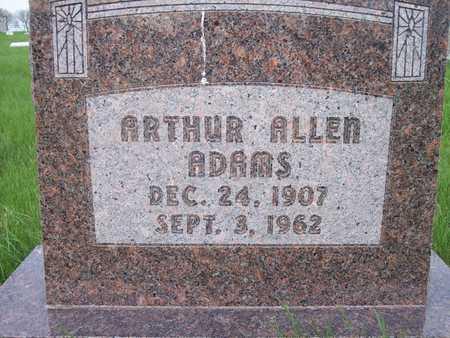 ADAMS, ARTHUR ALLEN - Page County, Iowa   ARTHUR ALLEN ADAMS