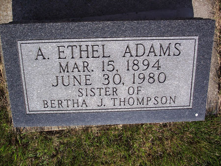 ADAMS, A. ETHEL - Page County, Iowa | A. ETHEL ADAMS