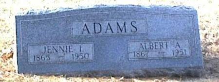 ADAMS, JENNIE I. - Page County, Iowa | JENNIE I. ADAMS