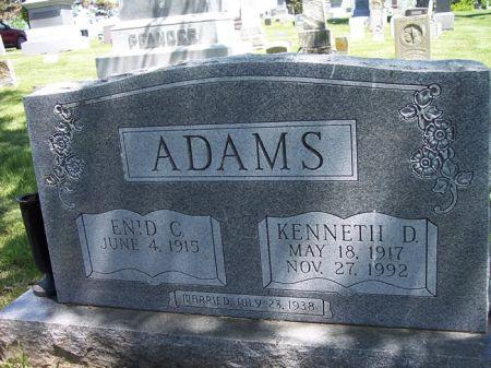 ADAMS, KENNETH D. - Page County, Iowa   KENNETH D. ADAMS