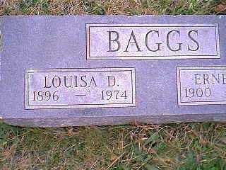 BAGGS, LOUISA D. - Page County, Iowa   LOUISA D. BAGGS