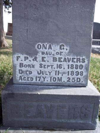 BEAVERS, ONA G - Page County, Iowa | ONA G BEAVERS