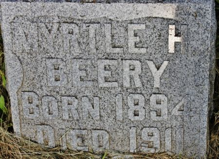 BEERY, MYRTLE H - Page County, Iowa   MYRTLE H BEERY