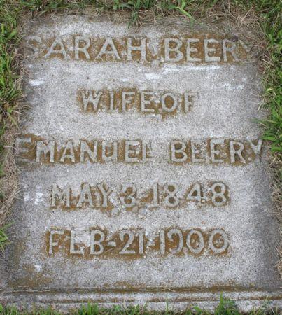 BEERY, SARAH - Page County, Iowa   SARAH BEERY