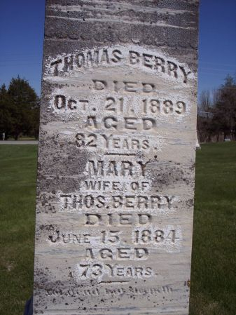 BERRY, MARY - Page County, Iowa   MARY BERRY