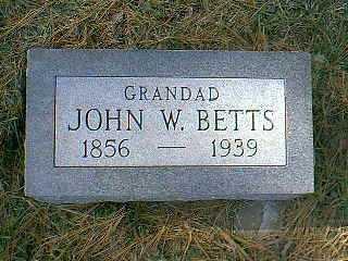 BETTS, JOHN W. - Page County, Iowa   JOHN W. BETTS