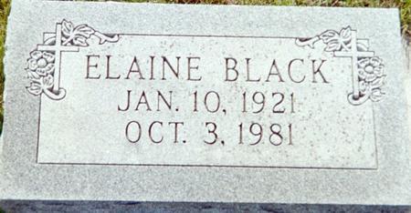 BLACK, ELAINE - Page County, Iowa | ELAINE BLACK