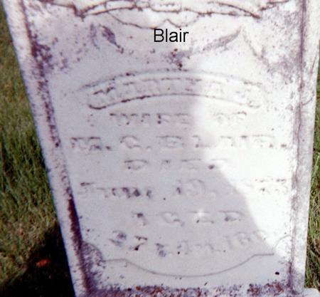 BLAIR, MARTHA J. - Page County, Iowa | MARTHA J. BLAIR