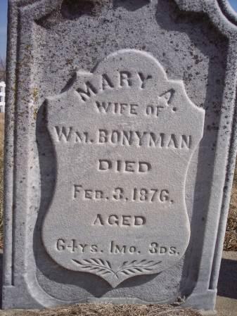BONYMAN, MARY A. - Page County, Iowa | MARY A. BONYMAN
