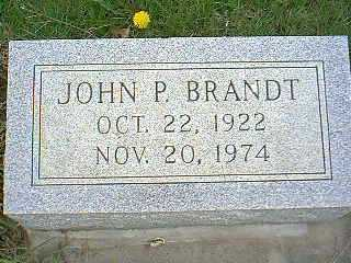 BRANDT, JOHN P. - Page County, Iowa   JOHN P. BRANDT