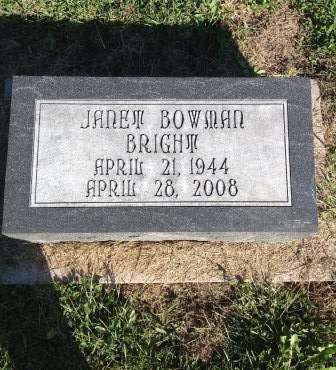 BRIGHT, JANET - Page County, Iowa | JANET BRIGHT